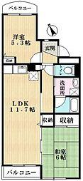 メゾン38[1階]の間取り