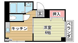 兵庫県神戸市東灘区深江北町4丁目の賃貸マンションの間取り