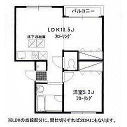 リバープレイス横浜[1階]の間取り