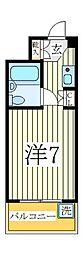 ジュネパレス柏第14[2階]の間取り