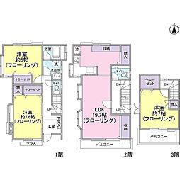 [一戸建] 東京都杉並区阿佐谷北2丁目 の賃貸【/】の間取り