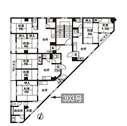 薬院ビル[3階]の間取り