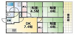 KYハイム 1階3DKの間取り