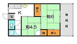 赤松文化[1階]の間取り