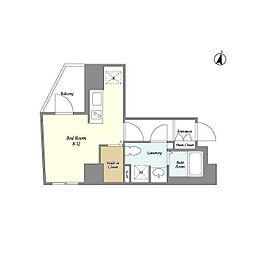 都営大江戸線 春日駅 徒歩3分の賃貸マンション 7階ワンルームの間取り