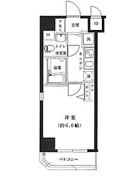 神奈川県横浜市中区三吉町の賃貸マンションの間取り