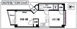 大島第3マンション[303号室]の間取り