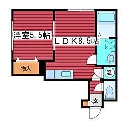ルナ・パークII[2階]の間取り