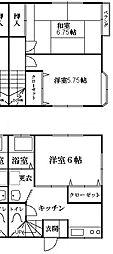 [テラスハウス] 東京都江戸川区西一之江3丁目 の賃貸【/】の間取り