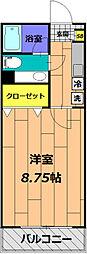 サァラ多摩平[305号室]の間取り