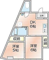 第1広田マンション[301号室]の間取り
