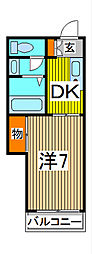 平松ハイツ[2階]の間取り