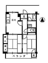 ハイツグローリー[2階]の間取り