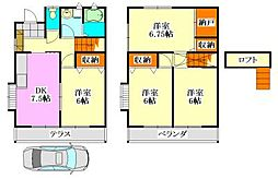 [テラスハウス] 千葉県船橋市前原東5丁目 の賃貸【/】の間取り