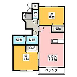 メゾンアンジュD[1階]の間取り