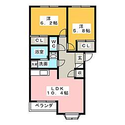 シンフォニーB[2階]の間取り