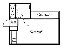 京都府京都市上京区上片原町の賃貸マンションの間取り