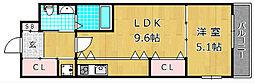 Lucia court 三矢[1階]の間取り