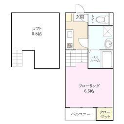 新築アパート 和白丘[2階]の間取り