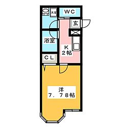 フジメゾン名駅[1階]の間取り