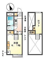 レオパレスエコースイート恵II[1階]の間取り
