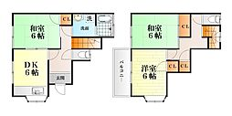 [テラスハウス] 神奈川県横須賀市三春町5丁目 の賃貸【/】の間取り