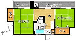 松戸パレス[11階]の間取り
