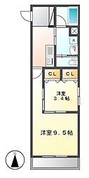 Sun Heart 池下 (サンハート)[8階]の間取り