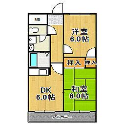 姫島ローズハイツII[510号室]の間取り