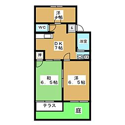プロミネンスTAKAGI[1階]の間取り
