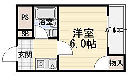 サードニックス[4階]の間取り