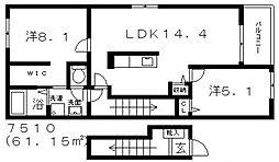 House Eureka(ハウスユーリカ)[202号室号室]の間取り