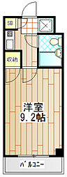 プライムハウス[208号室]の間取り