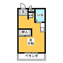 ファミール杉本[1階]の間取り