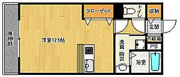 京都府京都市西京区牛ケ瀬林ノ本町の賃貸アパートの間取り