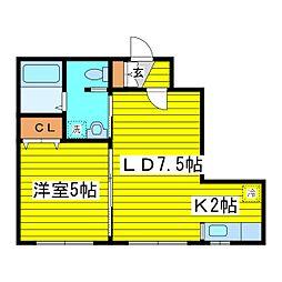 北海道札幌市東区北十八条東15丁目の賃貸マンションの間取り
