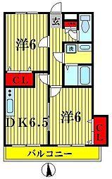 プレジール・オオクマI[2階]の間取り