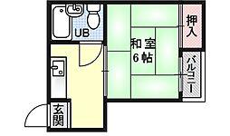 むらぐち荘東棟[1F号室号室]の間取り