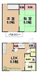 [タウンハウス] 神奈川県相模原市中央区上溝 の賃貸【/】の間取り