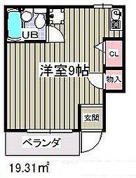 ローズアパートQ45[2階]の間取り
