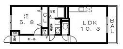 ル・グランボヌール[106号室号室]の間取り