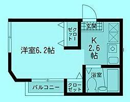 パティオ宿河原[2階]の間取り
