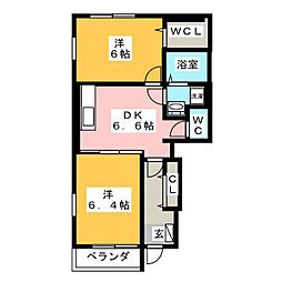 プロニティーハウス共生[1階]の間取り