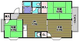 ディアコート小金台E棟[2階]の間取り