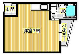 EASY BOX 稲[2階]の間取り