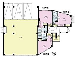 YASUIビル第9[1階]の間取り