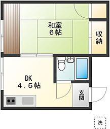 川島ハウス[101号室]の間取り