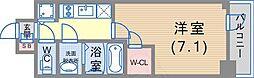 JR東海道・山陽本線 神戸駅 徒歩5分の賃貸マンション 3階1Kの間取り