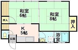 コーポラス斉藤[03号室]の間取り