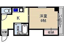 テースト西田中[1階]の間取り